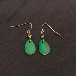 Blueish Green Dangling Earrings